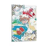 Anime-Poster Schneewittchen mit dem roten Haar, dekoratives