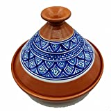Tajine 0907211208 Faitout Terre cuite Plat ethnique Marocain Tunisino XL 32 cm