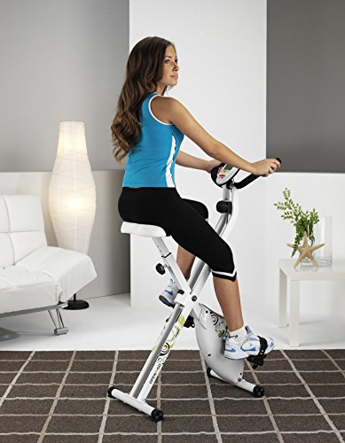 Tecnovita by BH OPEN&GO YF90. Flywheel 18 lbs. Get in shape in the comfort of your own home! Foldable home fitness bike. 8 (manual) intensities. Includes wheels. White