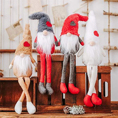ZHAOZX - Muñeca de Papá Noel Sueca con piernas largas,
