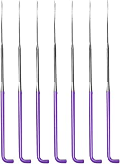 7 Pieces Needle Felting Needles, Wool Felting Supplies Felting Needles Kit Needle Felting Tool with Plastic Box for Wool Felting (Spiral,Purple,S)