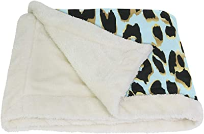 VAWA ブランケット ひざ掛け 豹柄 レオパード かわいい 毛布 着る 厚手 大きい 大判 紐付き 寒さ対策 オフィス アウトドア用