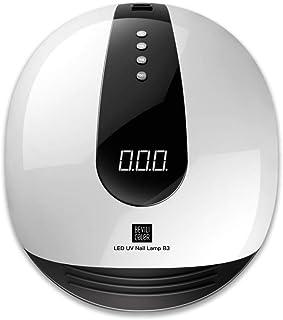 ZHTY Secador de uñas Inteligente automático sin Dolor 80W máquina de fototerapia de uñas de Secado rápido lámpara led secador de lámpara de uñas para Hacer Esmalte de uñas Goma horneado