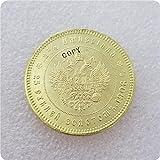 liangsen Rusia 25 Ruble 1908 Bronce Medal BU Copy Monedas conmemorativas-réplicas de Monedas Medalla Monedas coleccionables Insignia