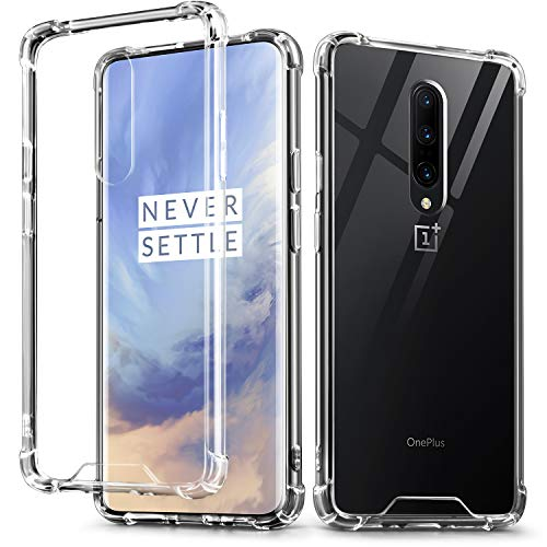 IDweel OnePlus 7 Pro Case, Crystal Clear Soft TPU Transparent Bumper Shock Absorption Technology Raised Bezels Slim Protective Cover for OnePlus 7 Pro (HD Clear)
