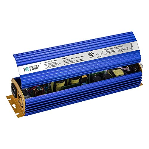 TOPHORT 1000W Digital Dimmable Electronic Ballast for 1000 Watts HPS MH Grow Light Bulb Lamp (1000W, Blue)