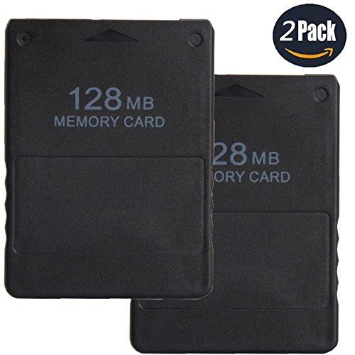 LEAGY 2 Paquetes Tarjeta de memoria de 128MB para Sony Playstation 2 PS2