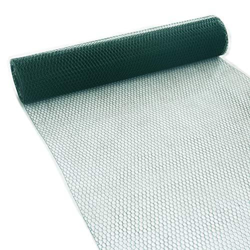 Garmix Sechseckgeflecht Grün 13mm Kaninchendraht Volierendraht 1mm (200cm, 25m)