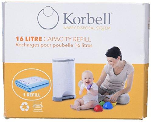 Korbell - Recambio Contenedor de Pañales  (16 litros) , 1 unidad