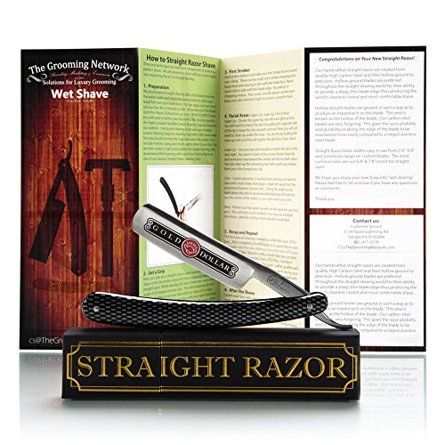 "Gold Dollar – Shave Ready Straight Razor (6/8"", Round Tip, Carbon Steel)"