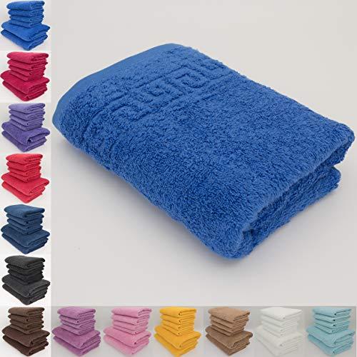 Lot de serviettes absorbantes 100% coton naturel 500g/m², de qualité hôtelière, 70 x 140cm et serviettes de toilette 50 x 90cm