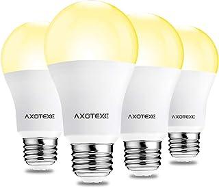 Axotexe Motion Sensor Light Bulbs Warm White 3000K Outdoor/Indoor Dusk to Dawn Led Light Bulb 9W(60W Equivalent) E26 A19 M...