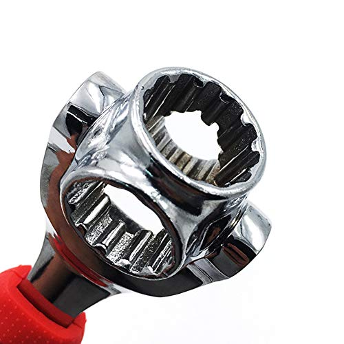 DFUTE Multi-Function Socket Wrench, 48-In-1 spanner, Tiger Wrench Works with Spline Bolts, Torx, Square Damaged Bolts, Adjustable Ratchet Wrench