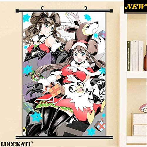 JIAJIAFU Pokemon Sword and Shield Sexy Cartoon Anime Wall Scroll Poster Lienzo Pintura 40 X 60 CM X
