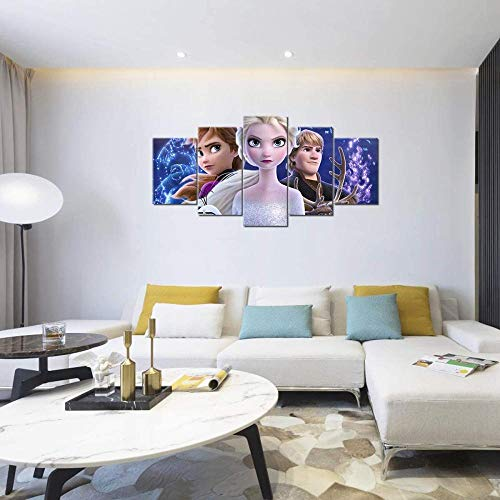 NC56 Cinque poster dipinti congelati soggiorno decorazione 150x80cm incorniciato