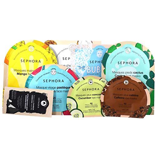 Sephora The Enchanted Jungle Face Mask Holiday Set - Watermelon, Cucumber, Caffeine, Charcoal, Coconut, Bubble, Cactus, Mango
