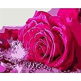 yaoxingfu Pas de Cadre Panier de Fleurs Rose Rose Moderne Mur Art Toile Peinture Home Decor 30x45cm