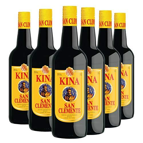 Kina San Clemente - Pack 6 botellas de 1 L - Bebida aromatizada dulce