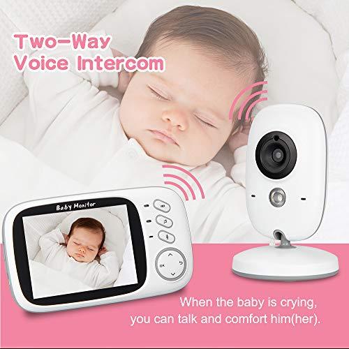 Vidéo sans Fil Baby Monitor Voice Intercom Lullabies intégrées Play Lullabies Home Baby Monitor HD Night Vision