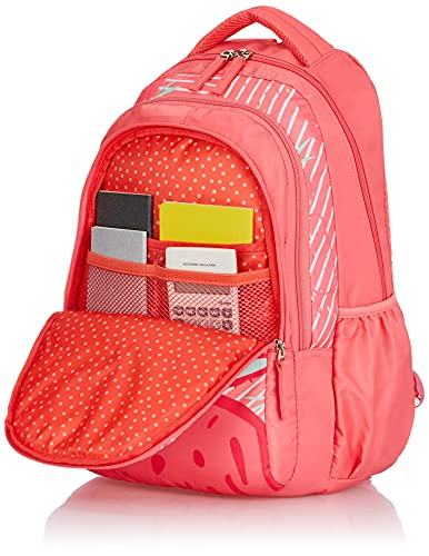 Genie Very Berry 27 litres Pink School Backpack (17 inch, Water Resistant)
