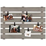 Gallery Solutions 594500E Wood Pallet Collage Picture Adjustable Clips Frames, Gray