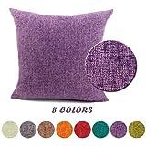 JT Housses de Coussin Géométrique Throw Pillow Case Taies d'oreillers Lit Linge de Coton Oreiller Maison Carré Doux Taies d'oreillers décoratives 40x60cm Violet