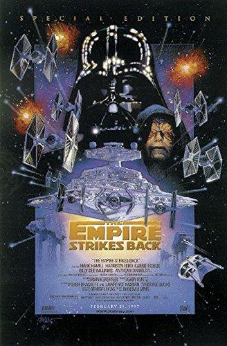 Star Wars Póster The Empires Strikes Back/El Imperio contraataca (68,5cm x 101,5cm) + 2 Marcos Negros para póster con suspención