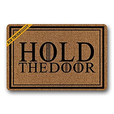 Artsbaba Funny Doormat Hold The Door Mat Rug Indoor Washable Floor Mat Home Decor 23.6  x 15.7