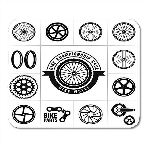 Teil Schwarz Fahrrad Fahrradräder Cycle Gear Attraktive dekorative Anti-Rutsch-Gaming-Pads 18cmx22cm