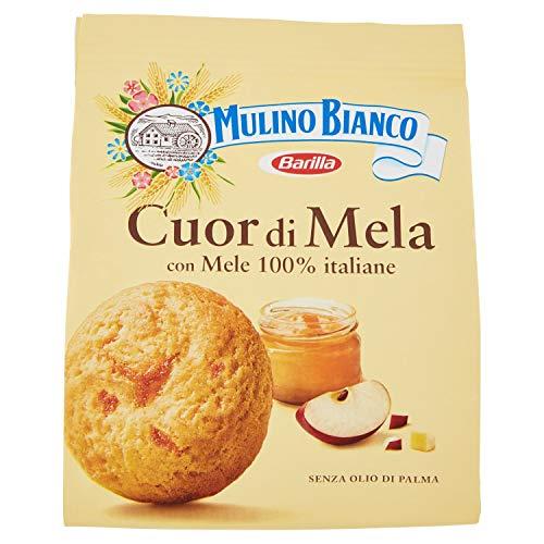 Mulino Bianco Biscotti Frollini Cuor di Mela, Colazione Ricca di Gusto, Senza Olio di Palma - 300 g