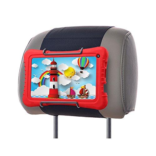 """WANPOOL Soporte Reposacabezas Coche para Dragon Touch 7"""" y Otras Tabletas de Niños Pulgadas con Funda de Silicona"""