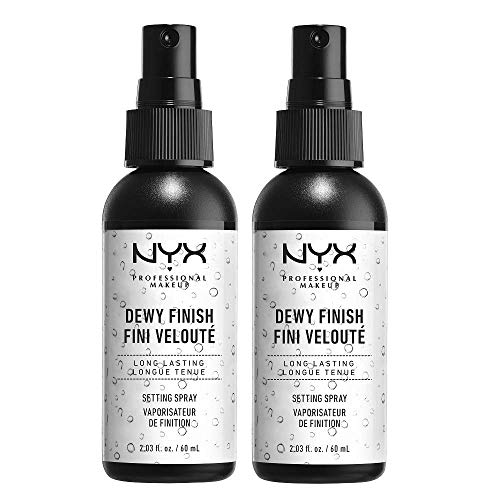 NYX Professional Makeup Setting Spray, Langanhaltende Formel, Fixierend, Leicht, Vegane Formel, Dewy Finish, 2er Pack, 60 ml