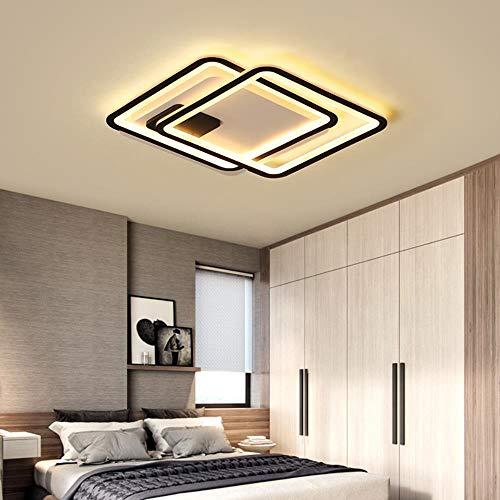 Dormitorio Sala de estar Lámparas de techo con control remoto Plafón de lámpara LED Iluminación moderna con control remoto, cálida sin control remoto, D45x6cm
