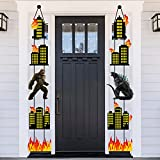 Godzilla Party Cardboard Cutouts Porch Sign Banner Decoration Apply To for Indoor And Outdoor Baby Birthday Party Or Bath Decoration Supplies (10 Pcs)
