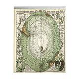 Duschvorhang Old 1872 Antik Stieler Landkarte Antarktis Südpol Antarktis Polyester