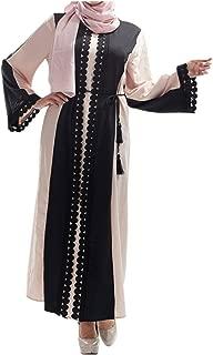 zhxinashu Women's Wear Lady Pencil Skirt Dress Maxi Robes Muslim Ramadan Gown