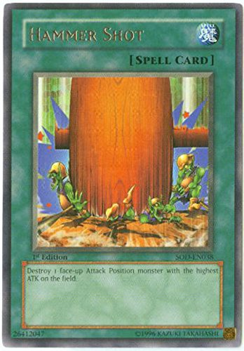 Yu-Gi-Oh! - Hammer Shot (SOD-EN038) - Soul of The Duelist - Unlimited Edition - Rare