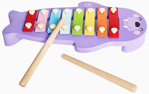 HXGL-Frapper au piano Mélodie Morse Frapper Au Piano Xylophone en Bois Octave Main Frapper La Musique Jouet 2-6 Ans (Couleur   Violet)