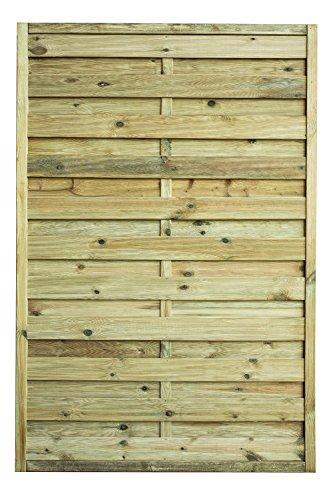 Avanti Trendstore - Lara - Gartensichtschutzwand, mit Rahmen 4,4x4,4cm und Lamellen geriffelt, in 3 Maßen erhältlich (120x180 cm)