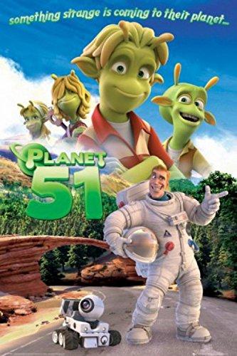 1art1 Planet 51 Poster - Something Strange (36 x 24 inches)
