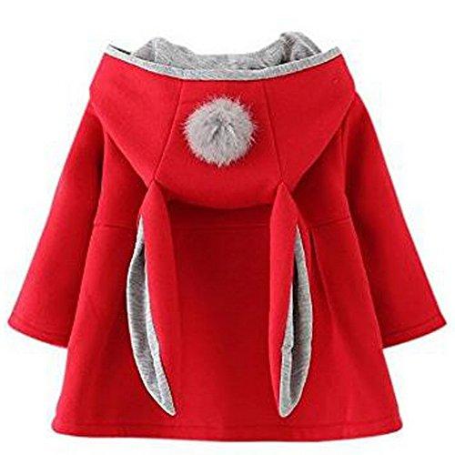 Odziezet Odziezet Baby Mädchen Mäntel aus Baumwolle Frühlung Herbst Winter Jache mit Kapuze Kleinkinder Warm Kleidung