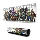 Overwatch Custom Gaming Mouse Pad Anime Mouse Mat Desk Pad 11.8x31.4x0.12inch for Game Players, Office, Study