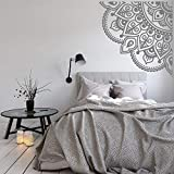 HXRRB LSMYM Mandala Wall Decal Chambre Décor Wall Art Maditation Chambre Décoration Vinyle Stickers Muraux Chambres Coin Stickers Violet L 84 cm X 84 cm