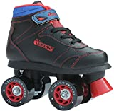 Chicago Boys Sidewalk Roller Skate - Black Youth Quad Skates - Size 1