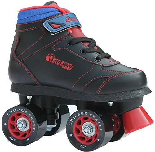 Image of Chicago Boys Sidewalk Roller Skate - Black Youth Quad Skates - Size J12