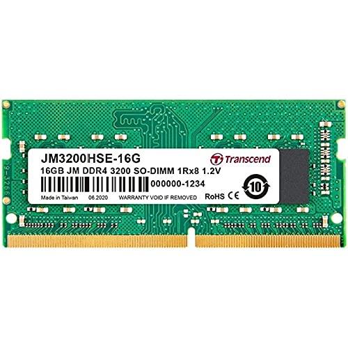 Transcend JM3200HSE-16G 16GB DDR4 3200MHz SO-DIMM 1Rx8 1.2V