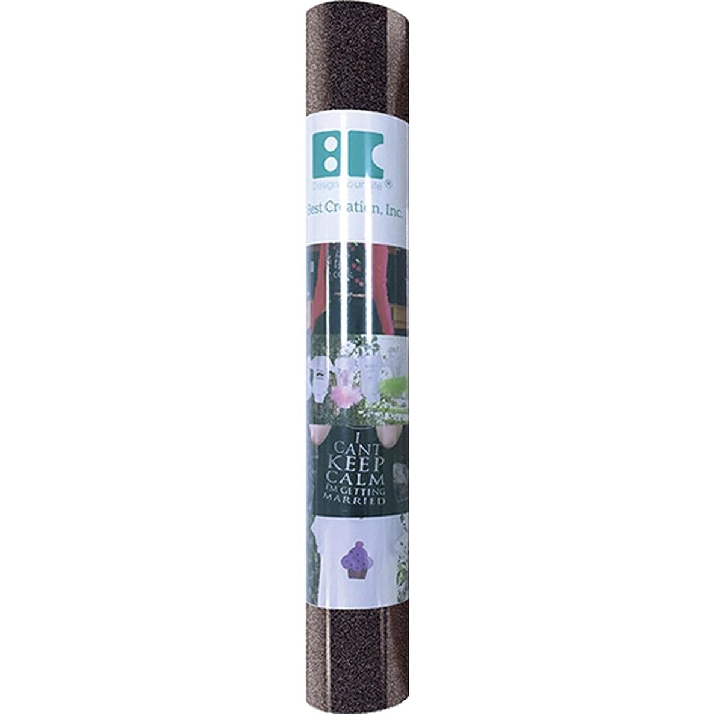 Best Creation GIO008 Iron On Glitter Roll, Black, 12