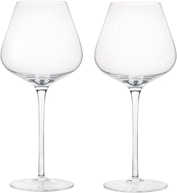 Extra Large Wine Glasses - Crystal wine glasses 31 oz set of 2, Hand Blown Red or White Wine Large Bowl Glass, Lead-Free Burg
