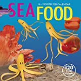 Graphique Sea Food Wall Calendar - 16-Month 2021 Calendar, 12'x12' w/3 Languages, 4-Month Preview, & Marked Holidays
