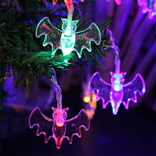 slingers voor vleermuiers, led-lampjes, water, vorstbescherming, kerstdecoratie, warmwit, kleurrijk, batterij voor meisjes, feestjes, bruiloft, kerstboom.